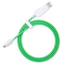 Кабель USB - Type C светящийся (зеленый)