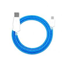 Кабель USB - Type C светящийся (синий)