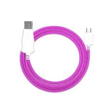 Кабель USB - Type C светящийся (фиолетовый)