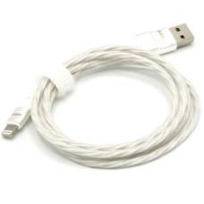 Кабель USB - Lightning (для iPhone) светящийся (красный)